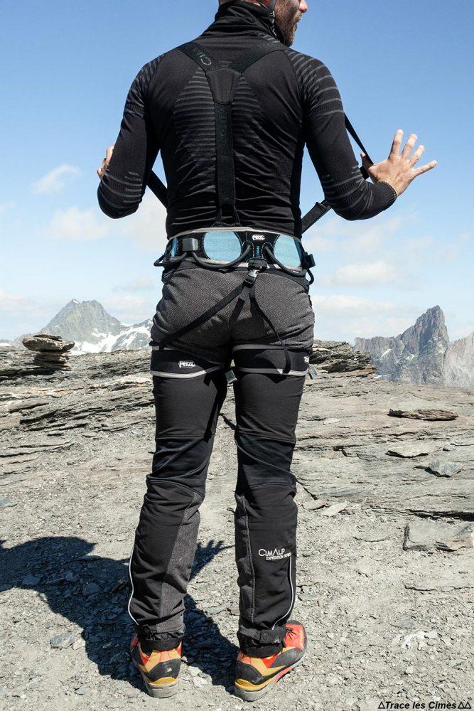 Test Pantalon Alpinisme CimAlp Transalpin : bretelles élastiques