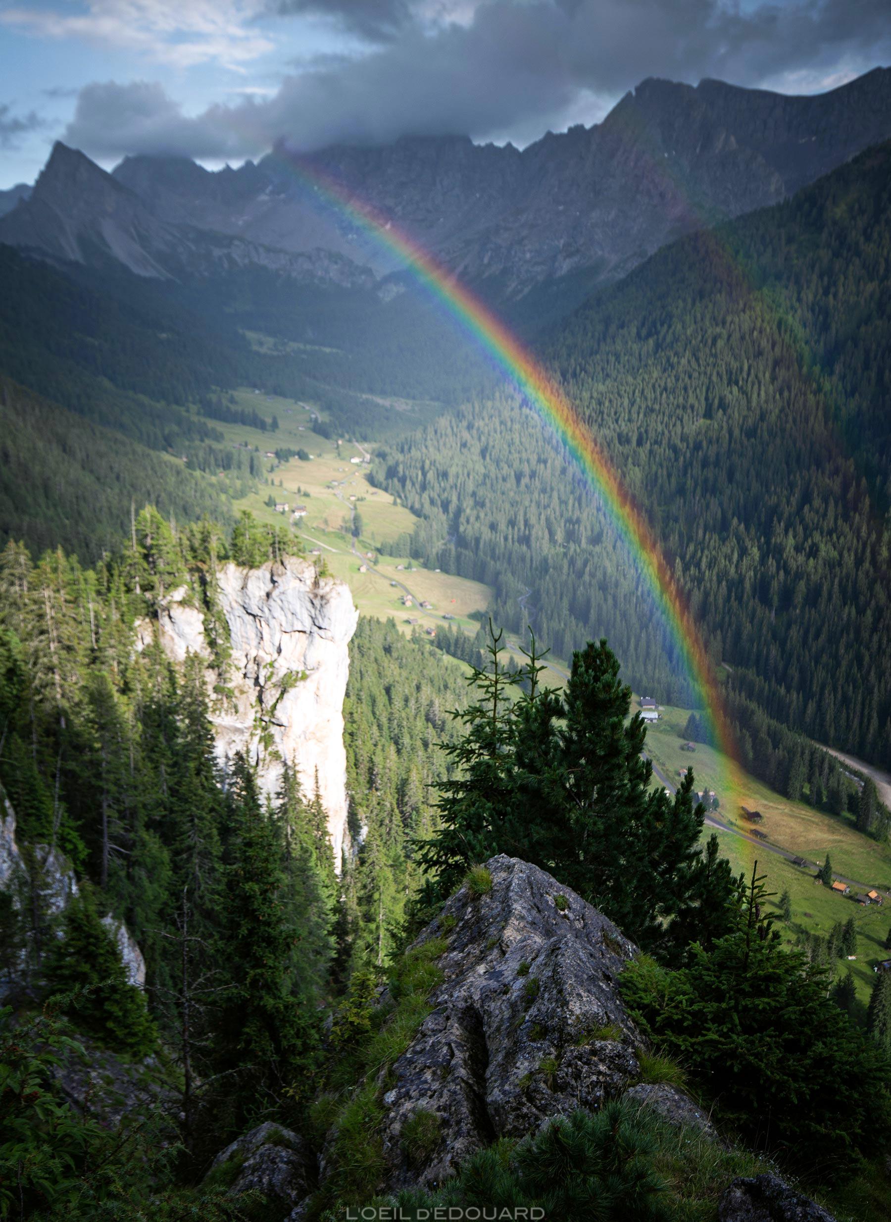 Arc-en-Ciel à Val San Nicolò Montagnes Dolomites Italie / Rainbow mountain Dolomiti Italia Italy © L'Oeil d'Édouard - Tous droits réservés