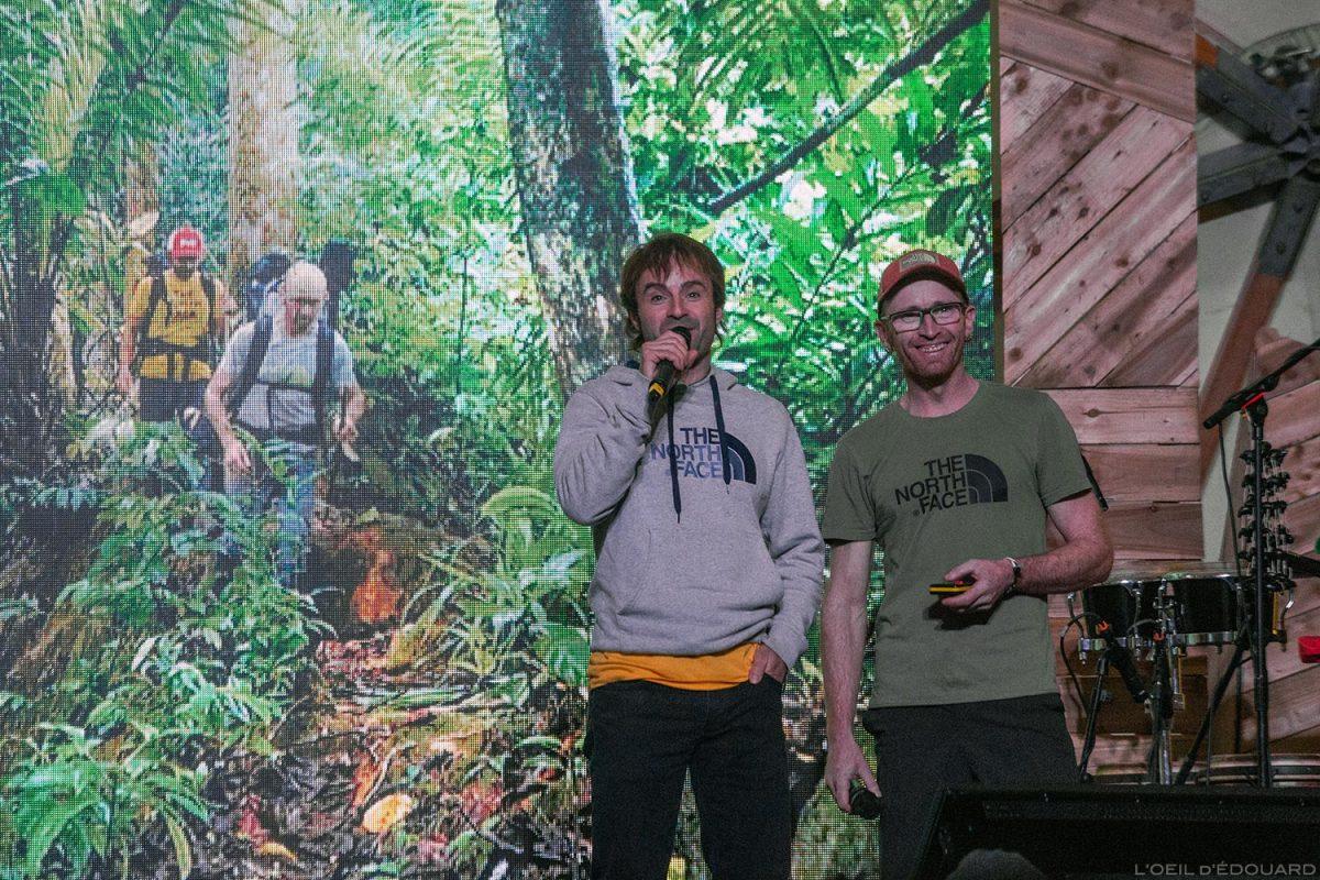 Frères Iker et Eneko - Conférence 4 Elements au The North Face Mountain Festival 2018 à Val San Nicolo dans les Dolomites, Italie / Hermanos Eneko Brothers Dolomiti Italia Italy