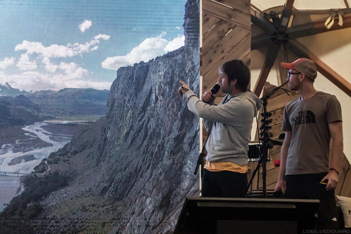 Frères Iker et Eneko - Conférence 4 Elements au The North Face Mountain Festival 2018 à Val San Nicolo / Los Quatros Elementos Hermanos Eneko Brothers