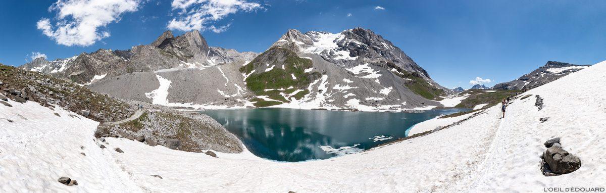 Le Lac Long, la Grande Casse et la Pointe de la Grande Glière au Col de la Vanoise