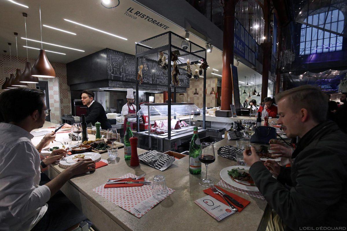 Stand restauration Mercato di San Lorenzo de Florence, Italie / Firenze, Italia Italy