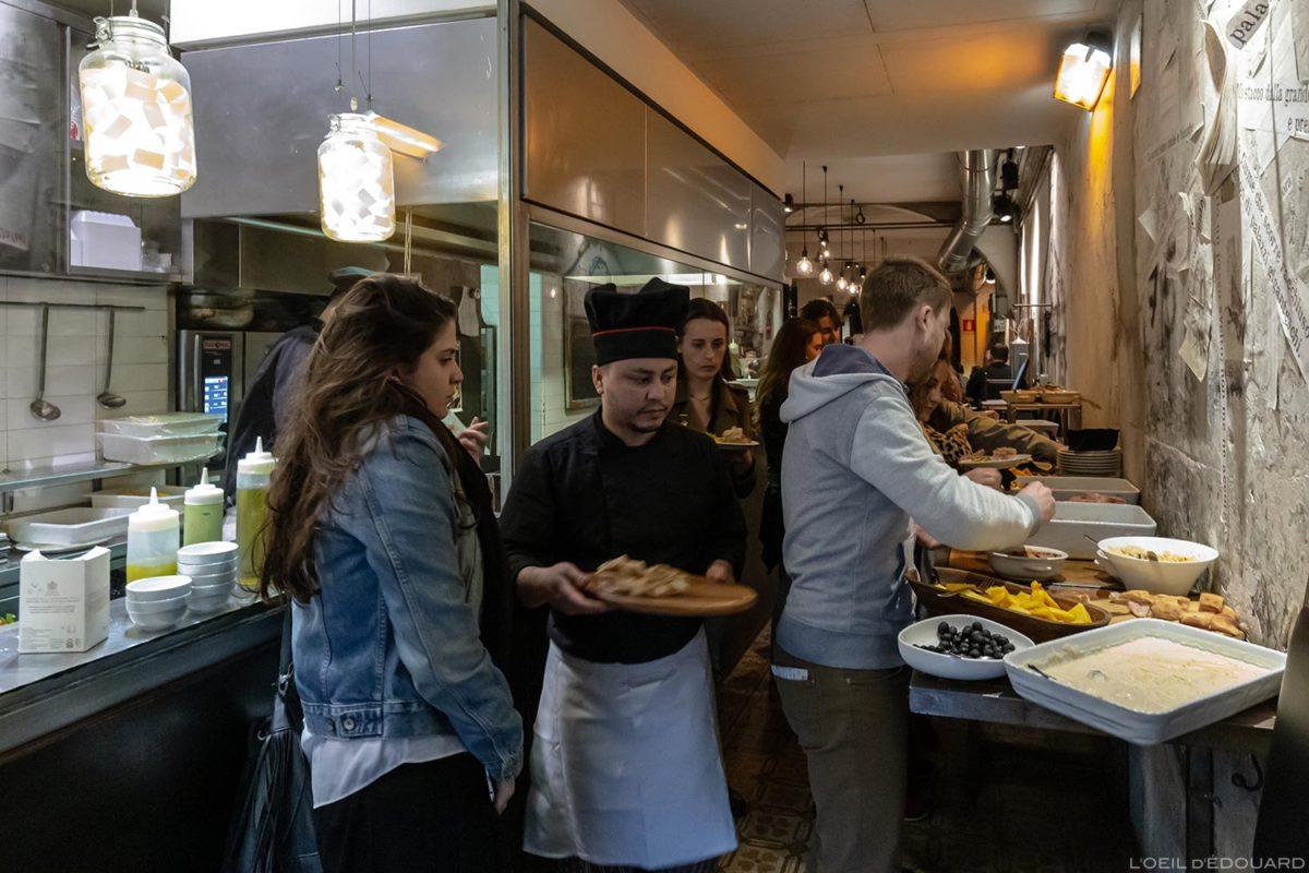 Aperitivo Tamerò Pastabar à Florence, Italie / Ristorante Firenze, Italian food