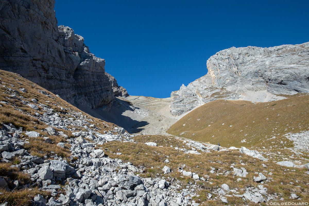 Le Vallon sous le Col du Rasoir, sous le Pic du Jallouvre