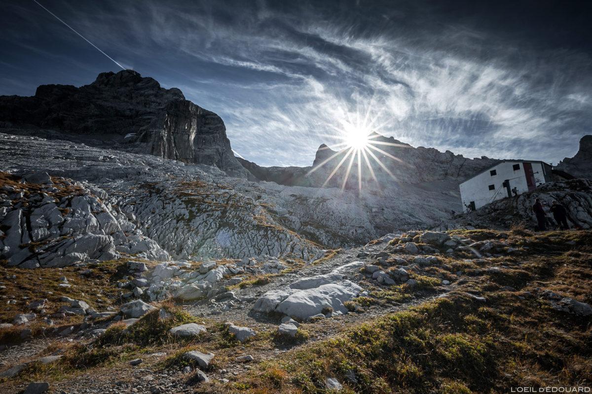 Le Refuge Gramusset et la Pointe Percée, Aravis / Haute-Savoie © L'Oeil d'Édouard - Tous droits réservés