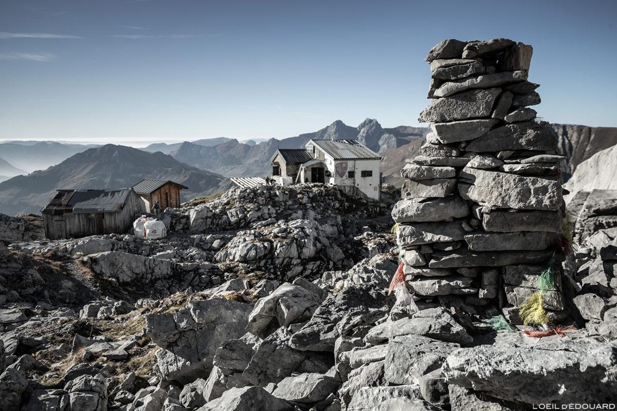Le Refuge Gramusset de la Pointe Percée, Aravis / Haute-Savoie © L'Oeil d'Édouard - Tous droits réservés
