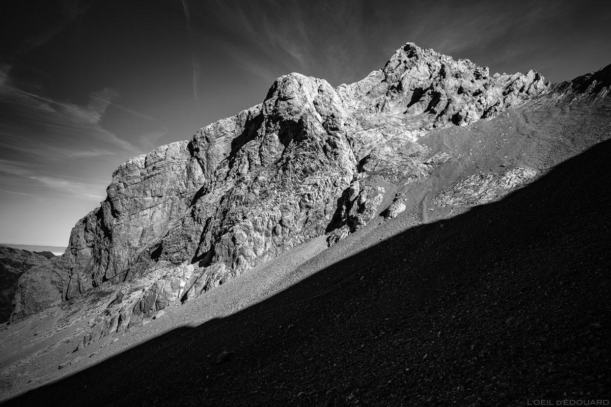 La face Sud de la Pointe Percée, Aravis / Haute-Savoie