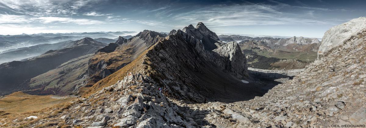 Le Col des Verts sous la Pointe Percée, Chaîne des Aravis / Haute-Savoie © L'Oeil d'Édouard - Tous droits réservés