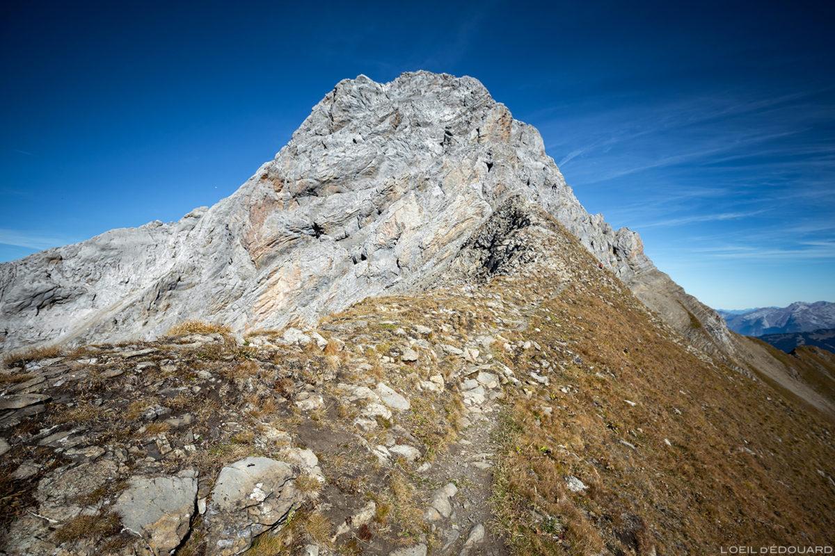 La Pointe Percée depuis le Col des Verts, Aravis / Haute-Savoie