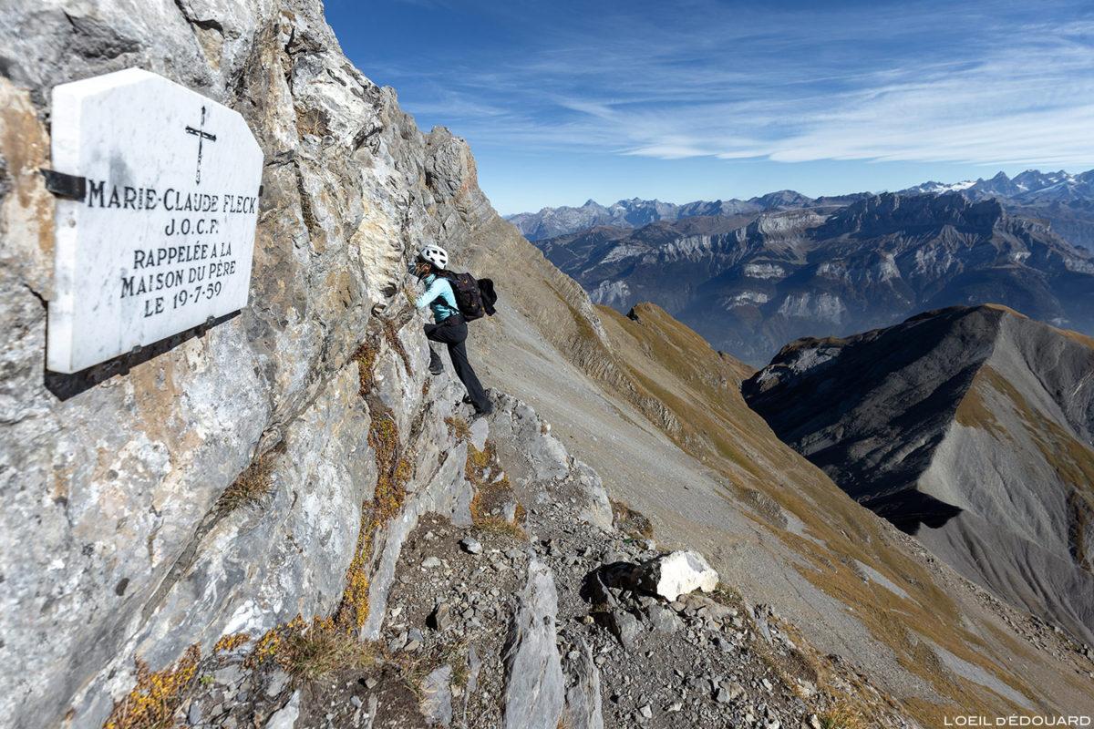 Départ ascension de La Pointe Percée par les Cheminées de Sallanches, Aravis / Haute-Savoie