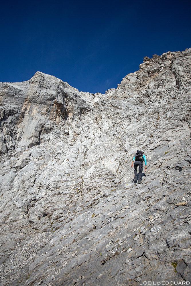 Ascension de La Pointe Percée par les Cheminées de Sallanches, Aravis / Haute-Savoie