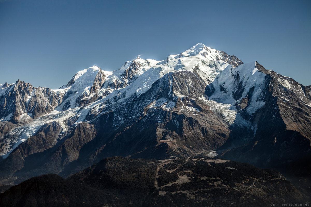 Le Mont Blanc depuis le sommet de La Pointe Percée, Alpes Haute-Savoie