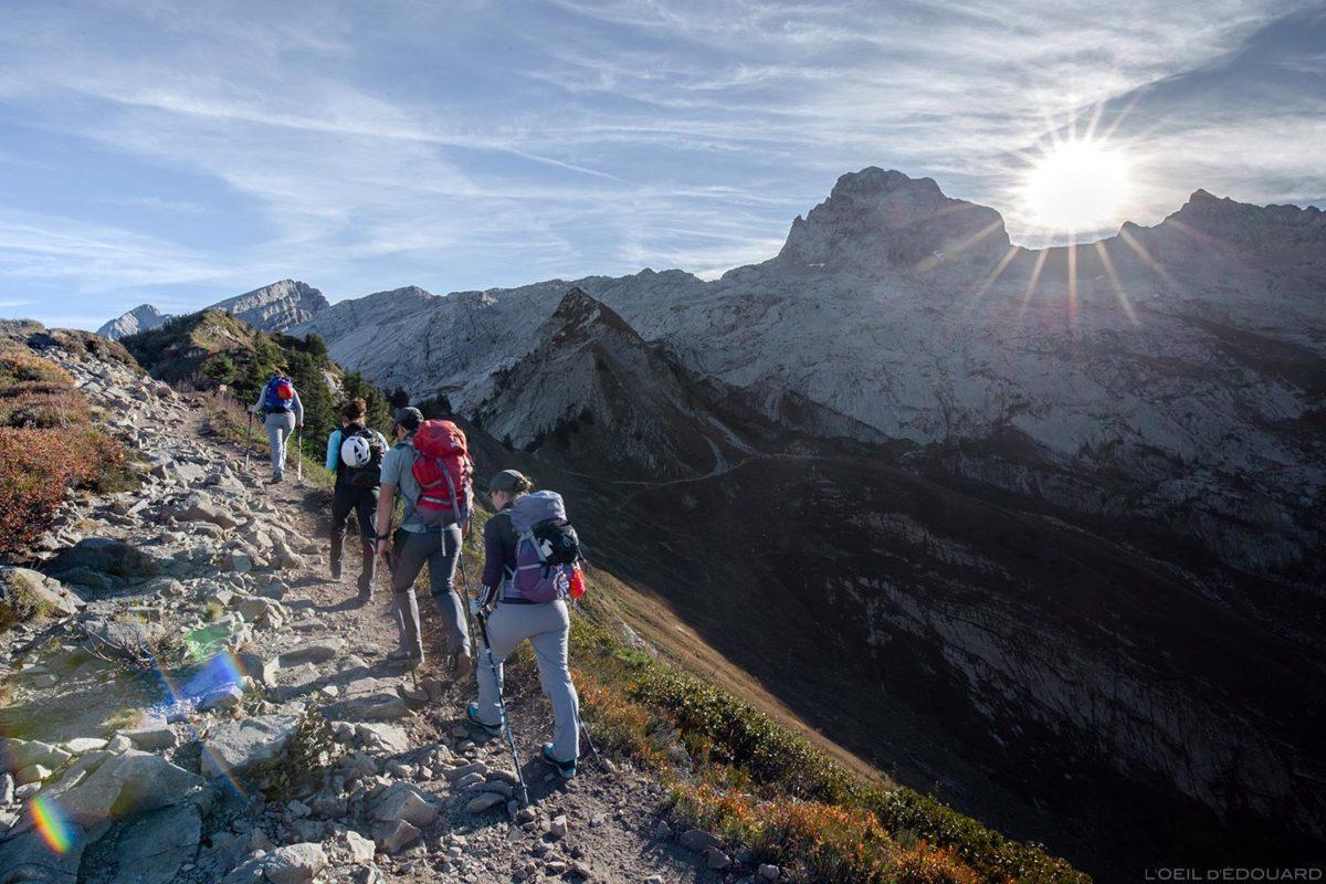La Pointe Percée depuis la Pointe des Delevrets dans les Aravis / Haute-Savoie, Alpes