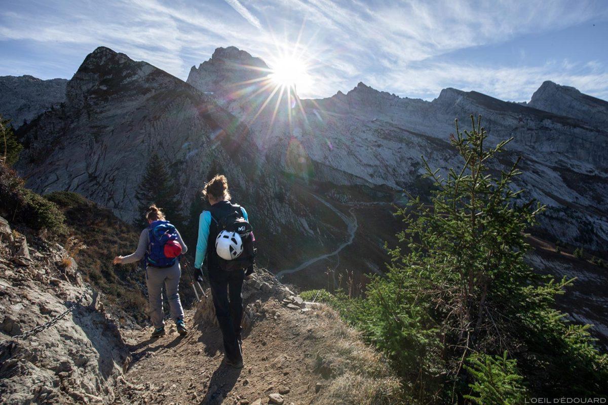 La Pointe Percée depuis le Col de l'Oulettaz dans les Aravis / Haute-Savoie, Alpes