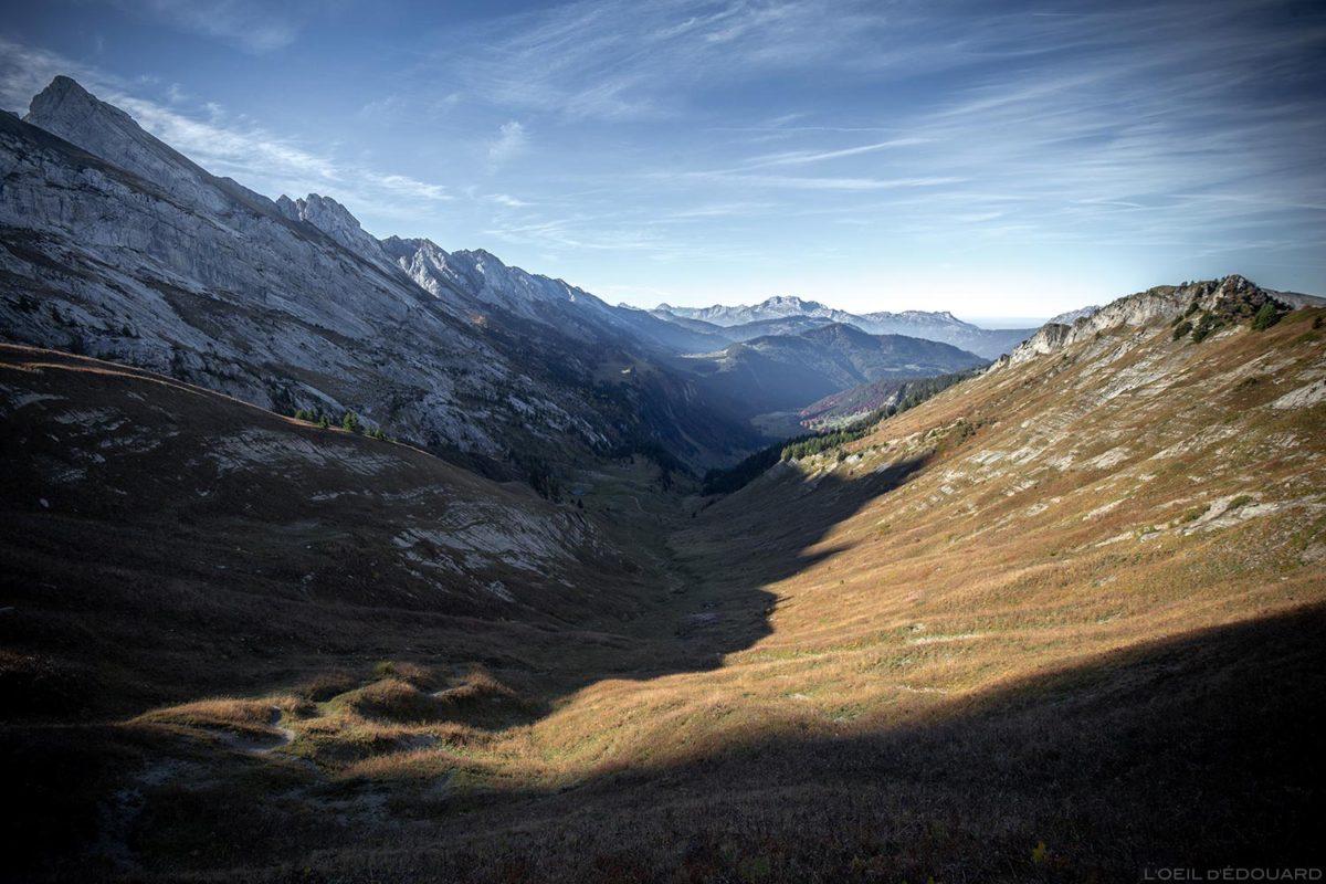 Les Lanches de Lormay depuis le Col de l'Oulettaz dans les Aravis / Haute-Savoie, Alpes