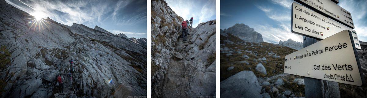 Itinéraire de randonnée au Refuge de Gramusset et la Pointe Percée, Aravis / Haute-Savoie, Alpes