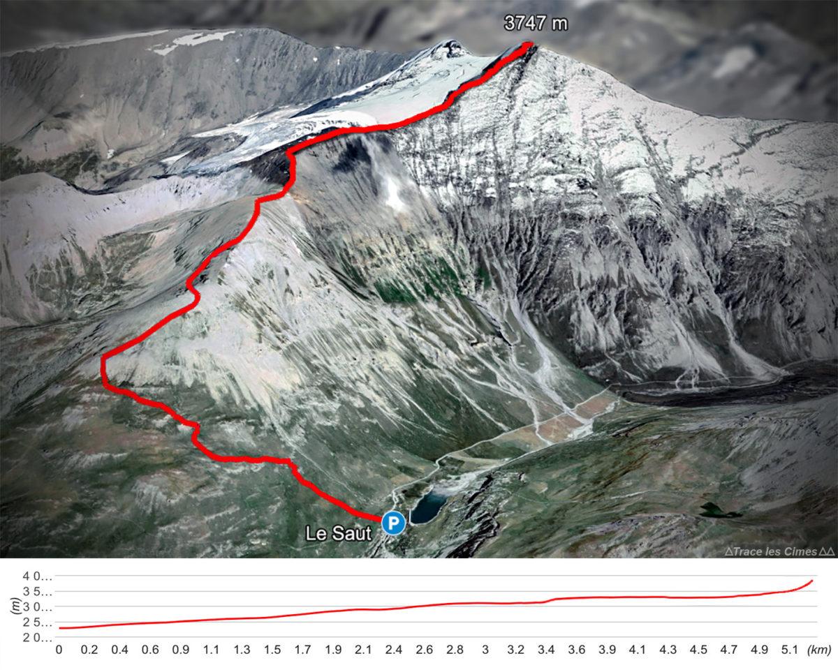 Itinéraire randonnée à l'Aiguille de la Grande Sassière, Alpes Grées Savoie