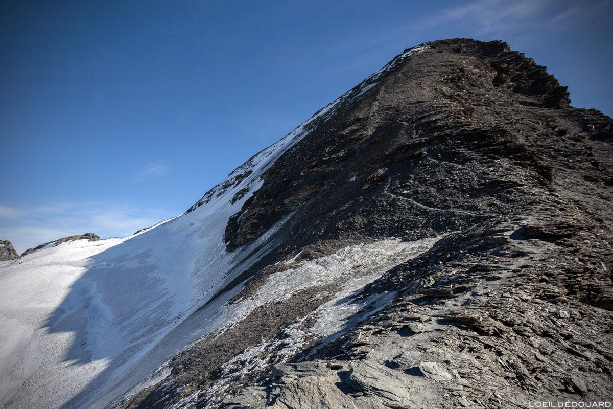 Le sommet de l'Aiguille de la Grande Sassière et le Glacier de la Sassière, Alpes Grées, Montagne Savoie
