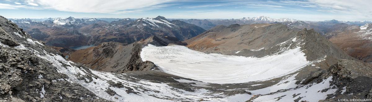 Le Glacier de la Sassière depuis l'Aiguille de la Grande Sassière, Alpes Grées, Montagne Savoie © L'Oeil d'Édouard - Tous droits réservés