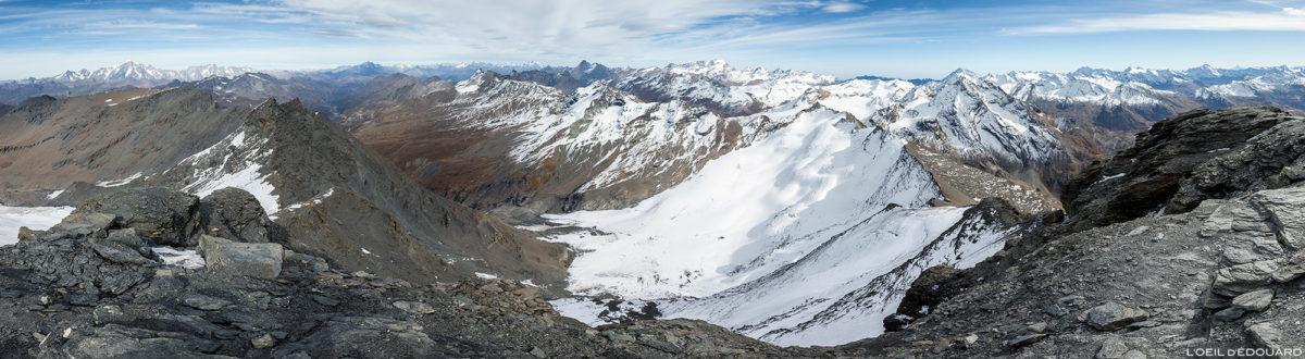 La Grande Traversière et le Grand Paradis depuis l'Aiguille de la Grande Sassière, Alpes Grées, Montagnes Italie © L'Oeil d'Édouard - Tous droits réservés