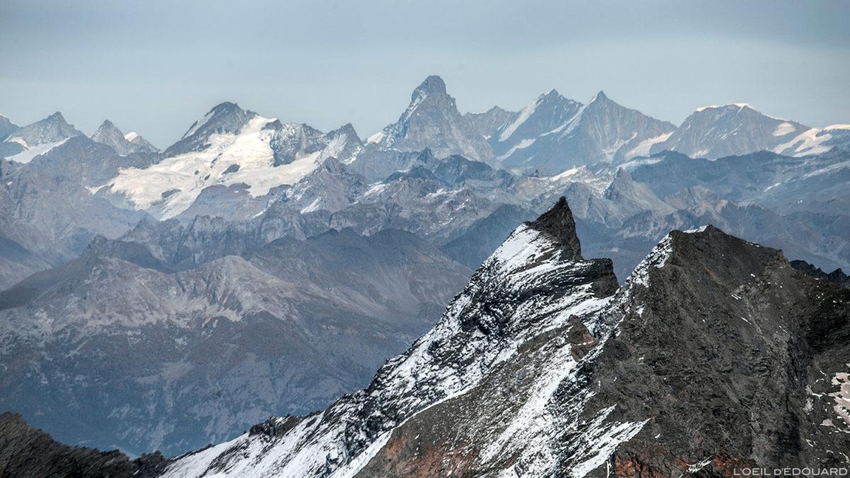 Le Cervin / Matterhorn, depuis le sommet de l'Aiguille de la Grande Sassière - Montagnes Suisse © L'Oeil d'Édouard - Tous droits réservés