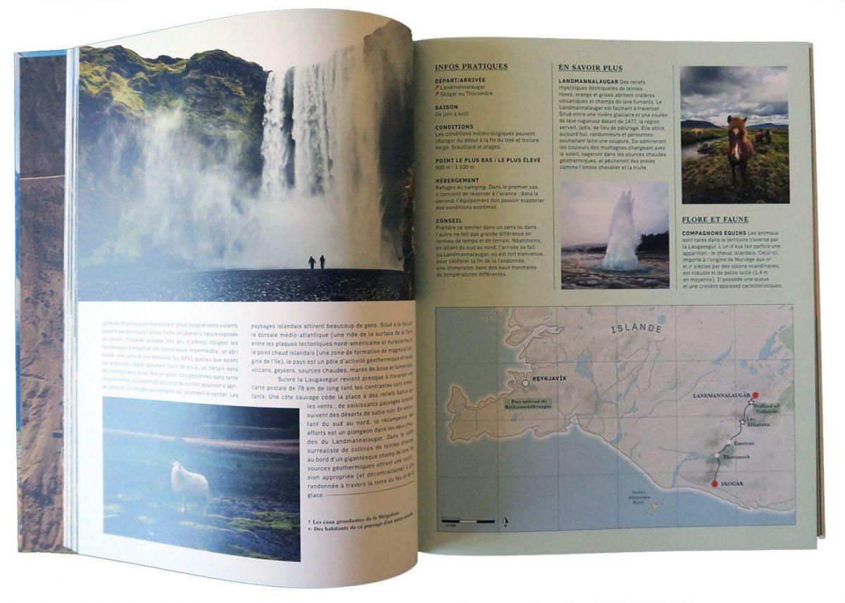 Beau Livre - Treks de Légende Autour du monde (Laugavegur) - Éditions Guides Bleus Gestalten