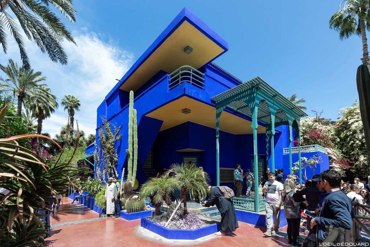 Maison dans le Jardin Majorelle à Marrakech, Maroc / Visit Marrakesh Morocco © L'Oeil d'Édouard - Tous droits réservés