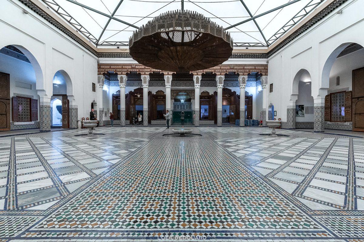 Patio intérieur du Musée de Marrakech, Maroc / Visit Museum of Marrakesh Morocco © L'Oeil d'Édouard - Tous droits réservés