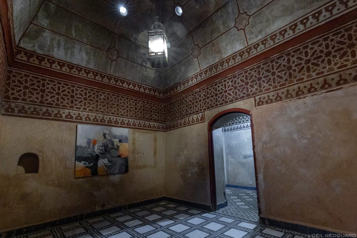 Salle d'exposition ancien hammam du Musée de Marrakech, Maroc / Visit Museum of Marrakesh Morocco