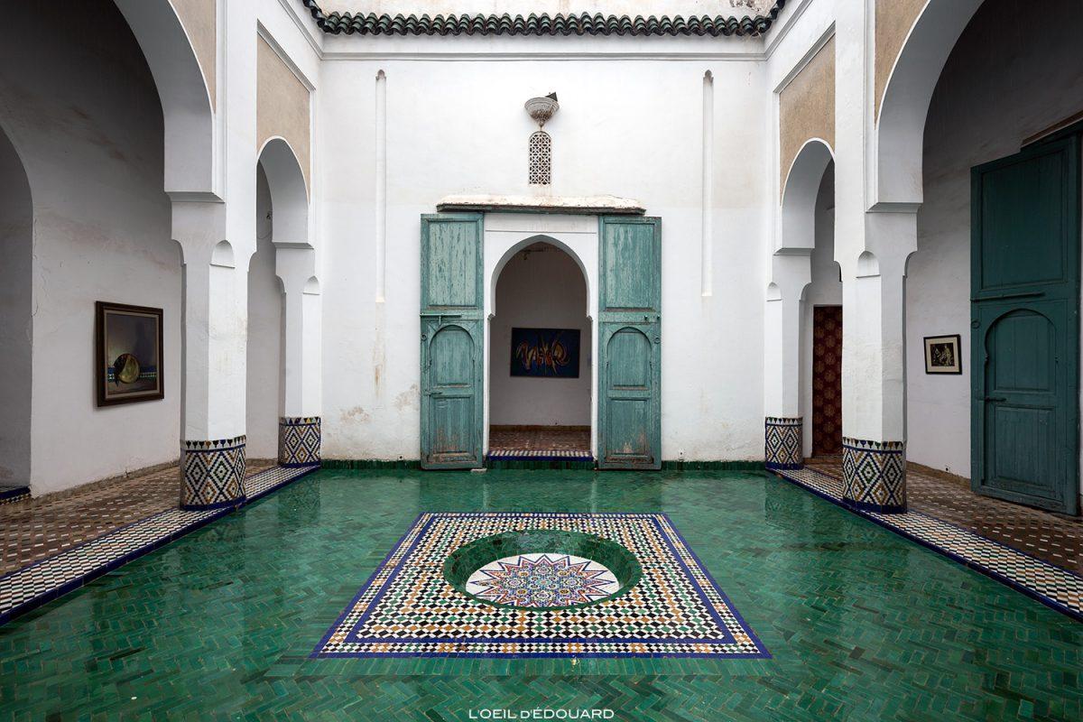 La douiria, Salle d'exposition art contemporain marocain dans l'ancienne cuisine du Musée de Marrakech, Maroc / Visit Museum of Marrakesh Morocco