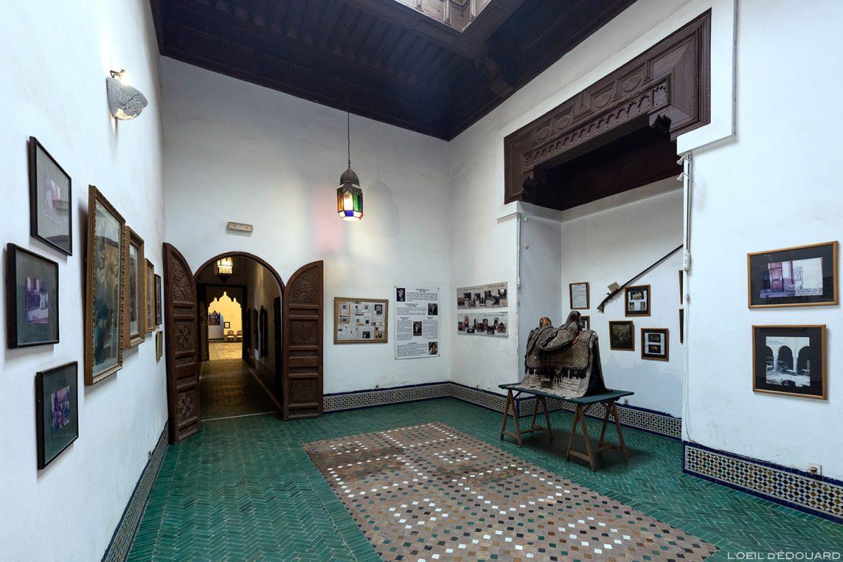 Salle d'exposition à l'entrée du Musée de Marrakech, Maroc / Visit Museum of Marrakesh Morocco