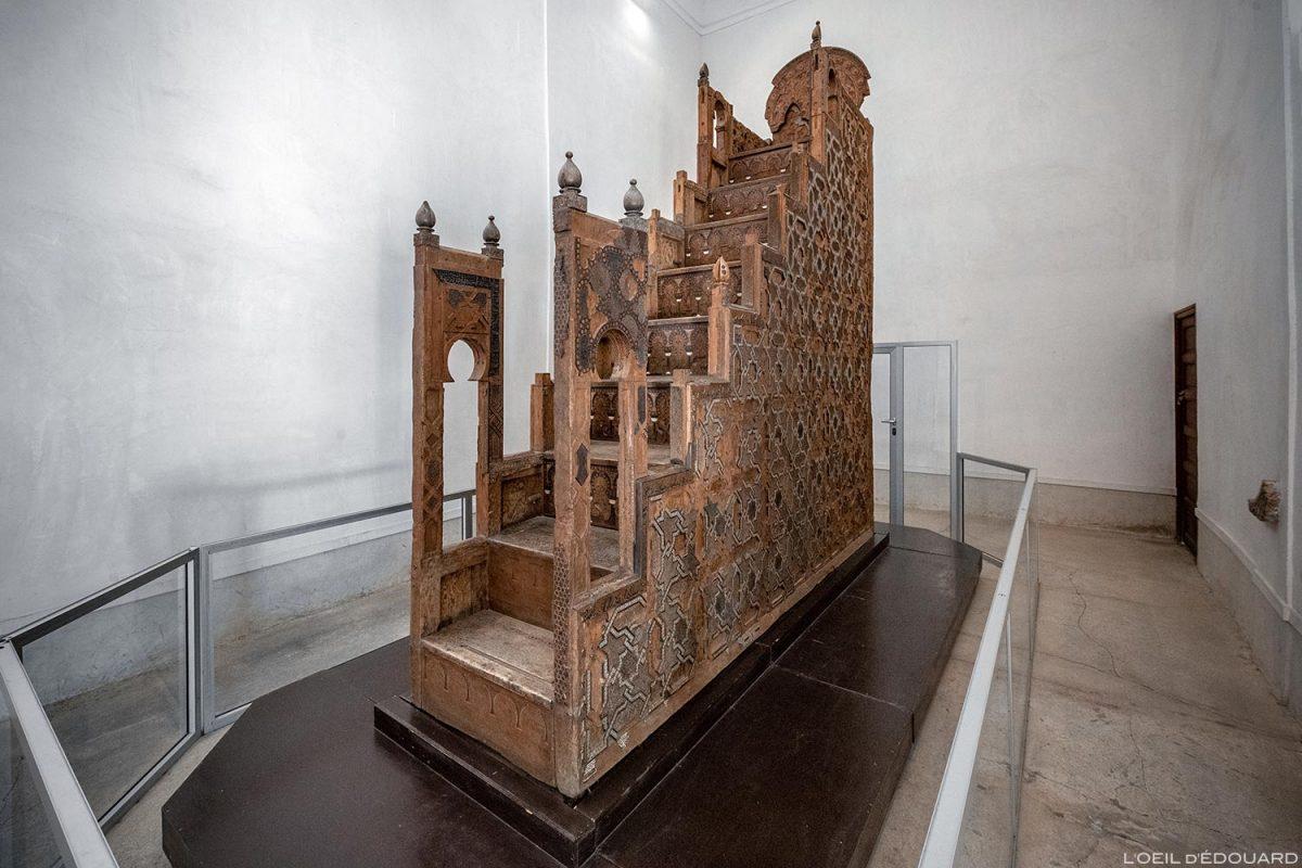Minbar de la Mosquée de la Koutoubia - Visite du Palais Badi à Marrakech, Maroc / Marrakesh Morocco