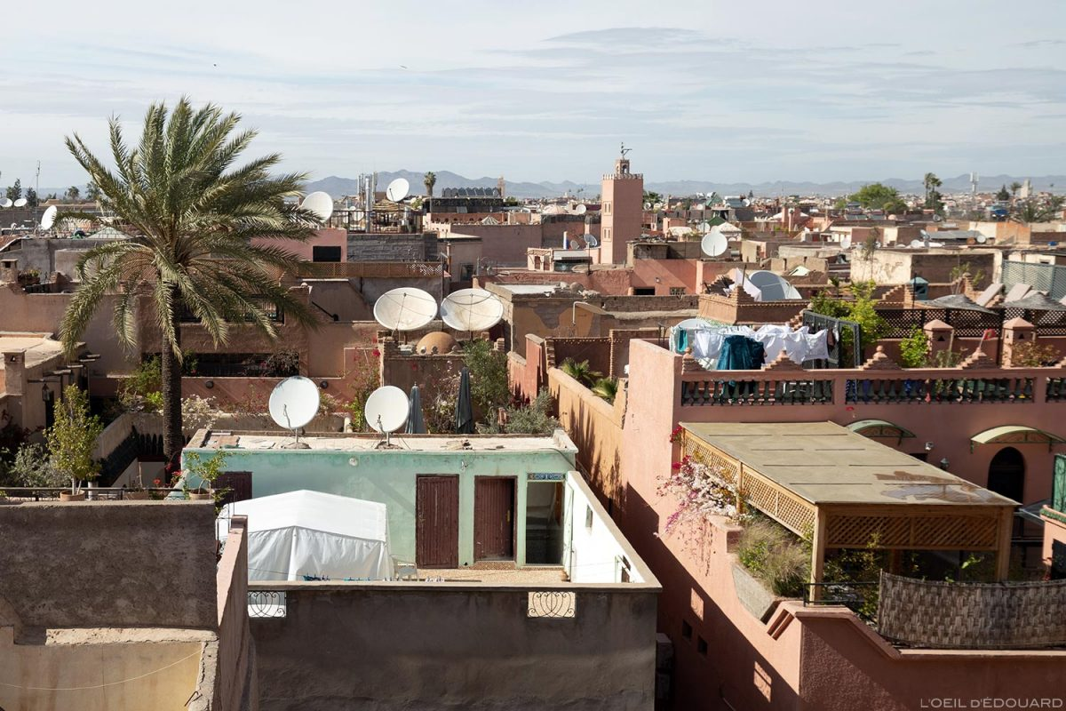 Terrasses et toits de Marrakech depuis le Palais el-Badi, Maroc / Marrakesh Morocco