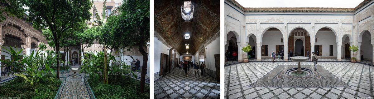 Cour intérieure Palais Bahia à Marrakech, Maroc / Visit Marrakesh Morocco
