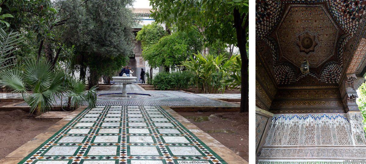 Cour intérieure du Palais Bahia de Marrakech, Maroc / Visit Marrakesh Morocco
