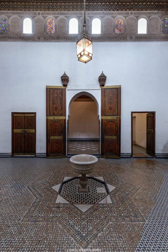 Intérieur salle du Palais Bahia de Marrakech, Maroc / Visit Marrakesh Morocco