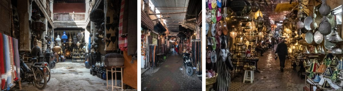 Artisanat marocain dans le Souk de Marrakech, Maroc / Marrakesh Morocco