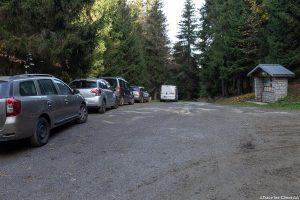 Col des Cyclotouristes, au-dessus d'Albertville : départ de la randonnée à la Roche Pourrie et au Mont Mirantin, Massif du Beaufortain, Savoie