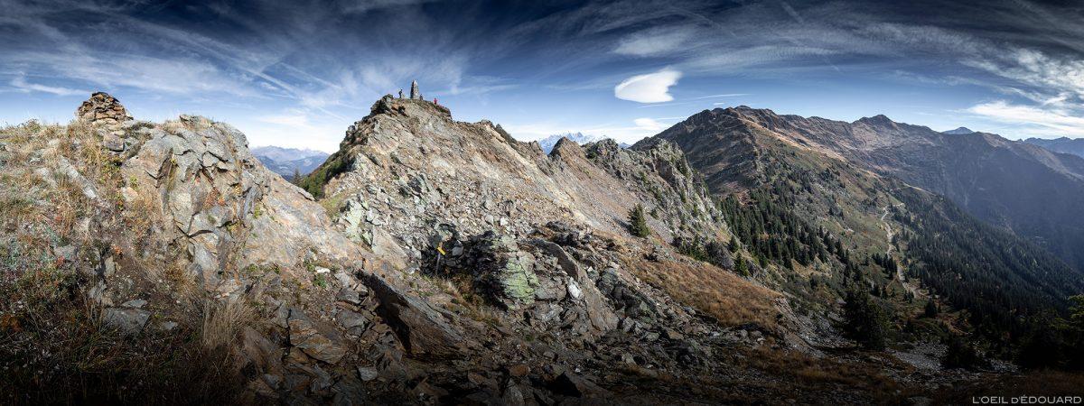 Le sommet de la Roche Pourrie, au-dessus d'Albertville - Massif du Beaufortain, Savoie © L'Oeil d'Édouard - Tous droits réservés