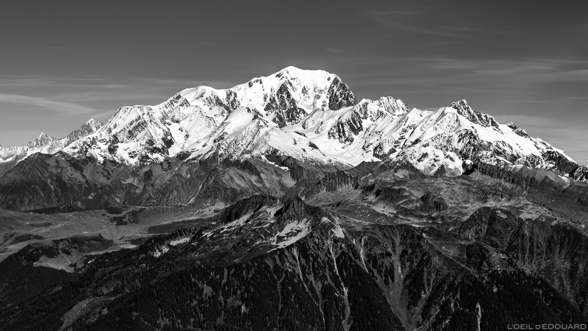 Le Mont Blanc, vu depuis le sommet du Mont Mirantin © L'Oeil d'Édouard - Tous droits réservés