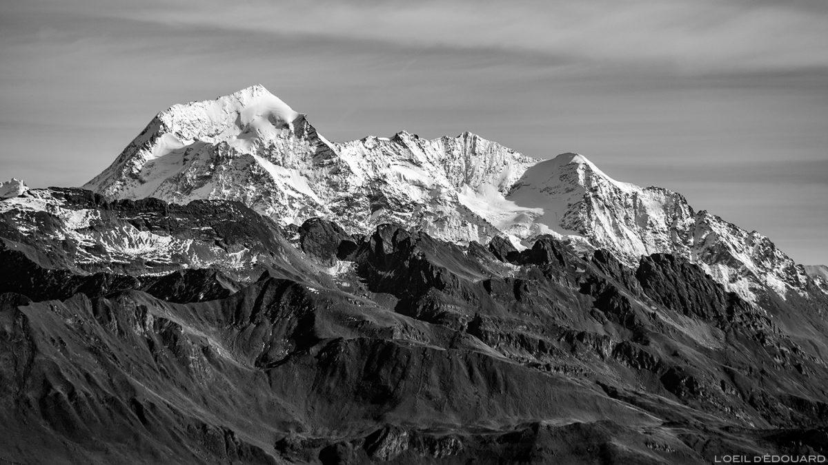 Le Mont Pourri, vu depuis le sommet du Mont Mirantin © L'Oeil d'Édouard - Tous droits réservés