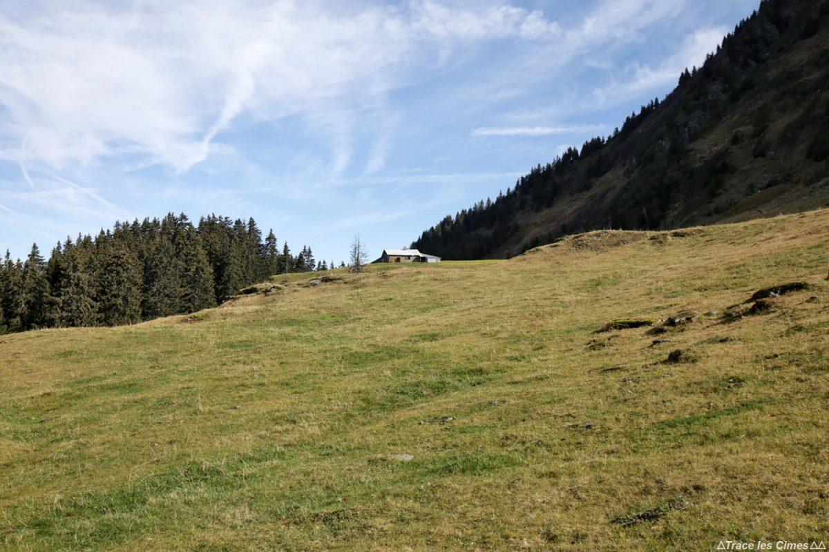 Chalet d'alpage du Haut du Pré, sous la Roche Pourrie, Massif du Beaufortain, Savoie