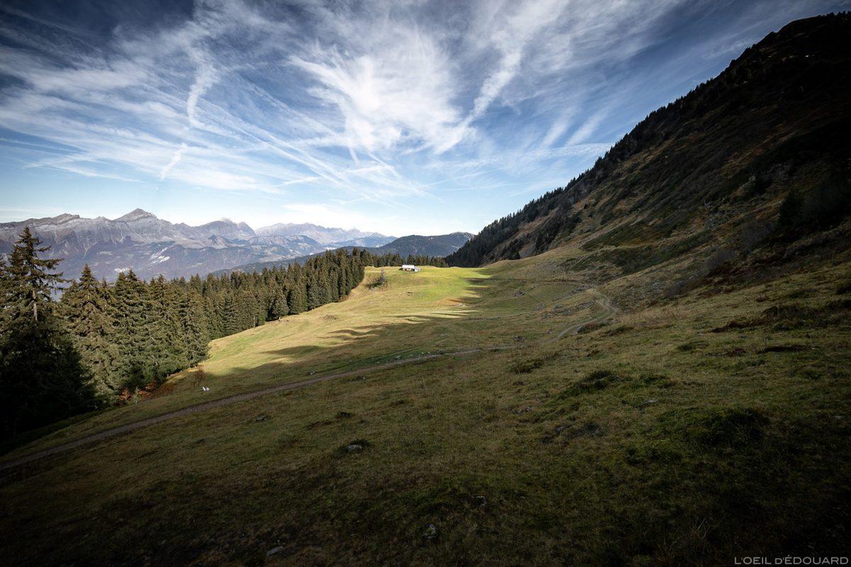 Alpage du Chalet du Haut du Pré, au-dessus d'Albertville, sous la Roche Pourrie - Massif du Beaufortain, Savoie © L'Oeil d'Édouard - Tous droits réservés