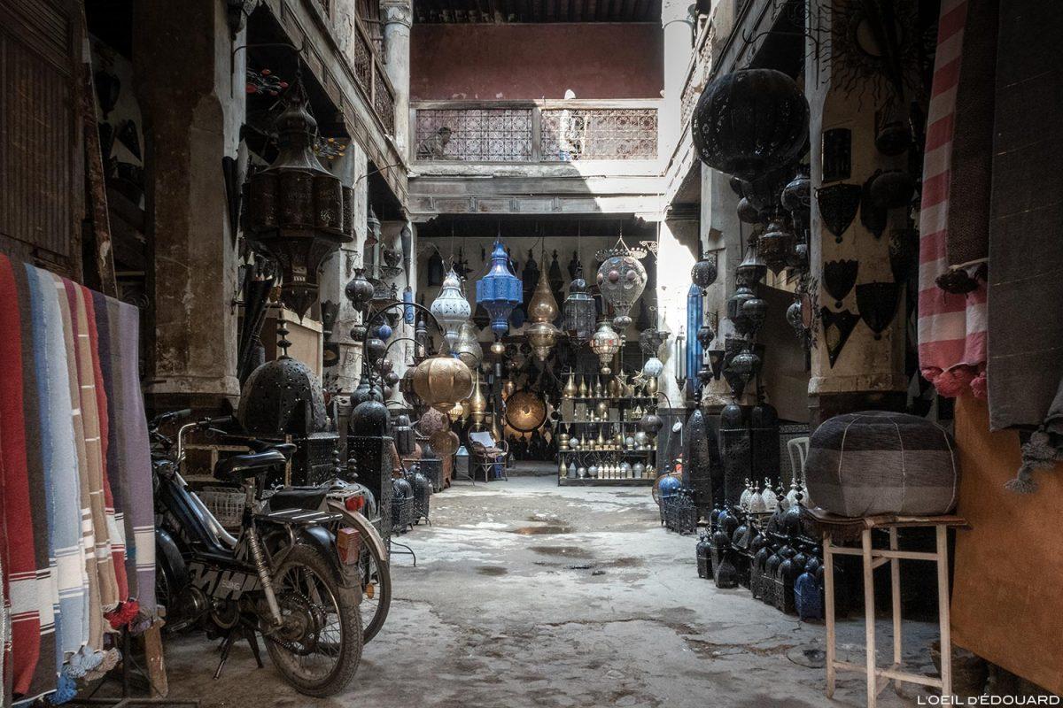 Fondouk : Médina Souk de Marrakech, Maroc / Marrakesh Morocco