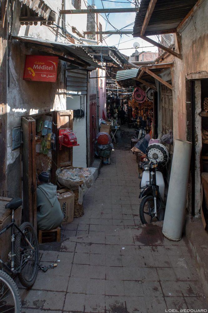 Médina : Souk des maroquiniers, Marrakech, Maroc / Marrakesh Morocco