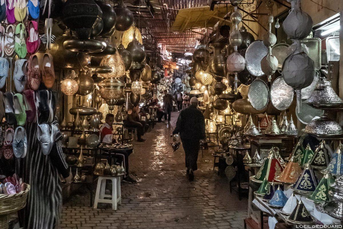 Médina : Souk des ferronniers, Marrakech, Maroc / Marrakesh Morocco