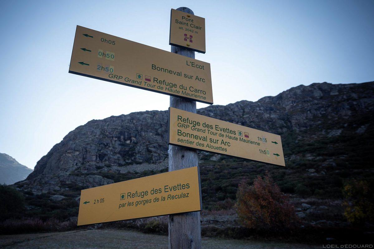 Pont Saint-Clair, L'Écot : itinéraires départ randonnée Cirque des Évettes - Alpes Grées, Haute-Maurienne, Savoie Alpes