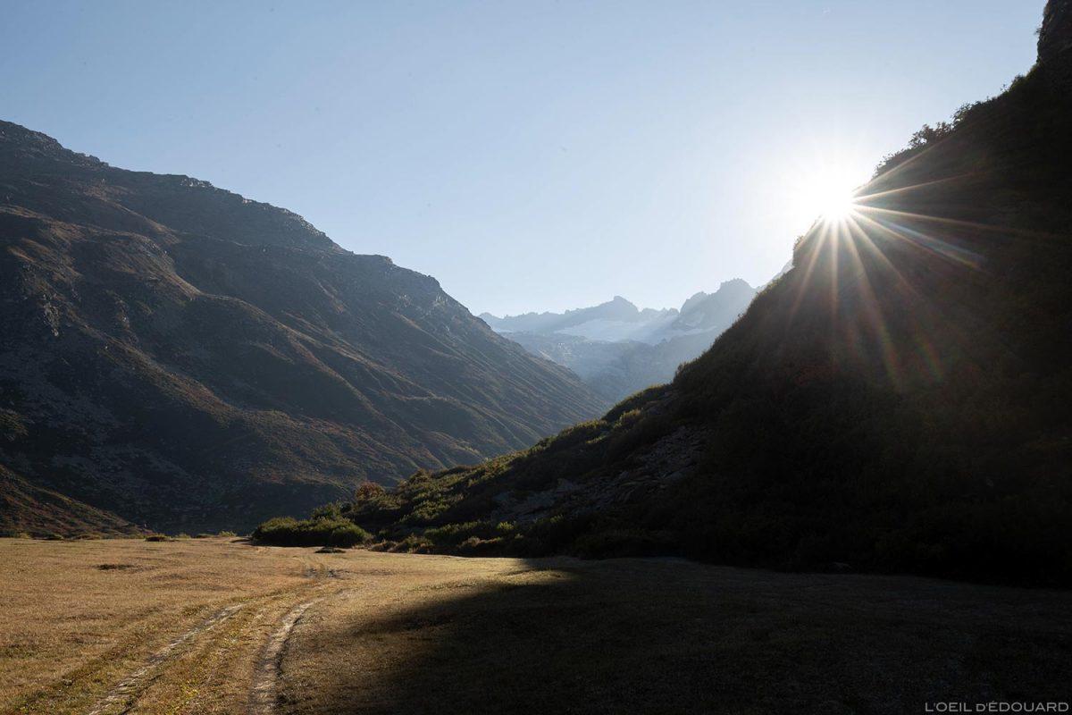 La Tronna : départ randonnée Cirque des Évettes par la Gorge de la Reculaz - Alpes Grées, Haute-Maurienne, Savoie Alpes
