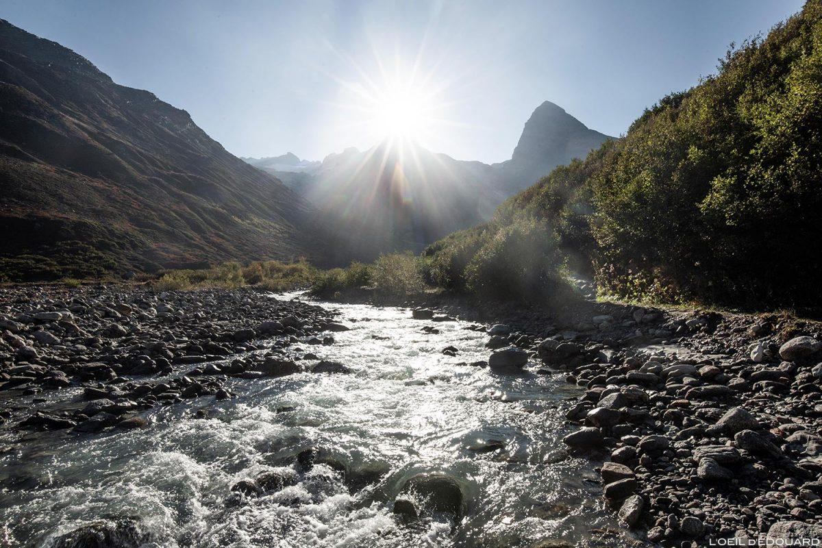 Ruisseau de la Reculaz : randonnée Cirque des Évettes par la Gorge de la Reculaz - Alpes Grées, Haute-Maurienne, Savoie Alpes