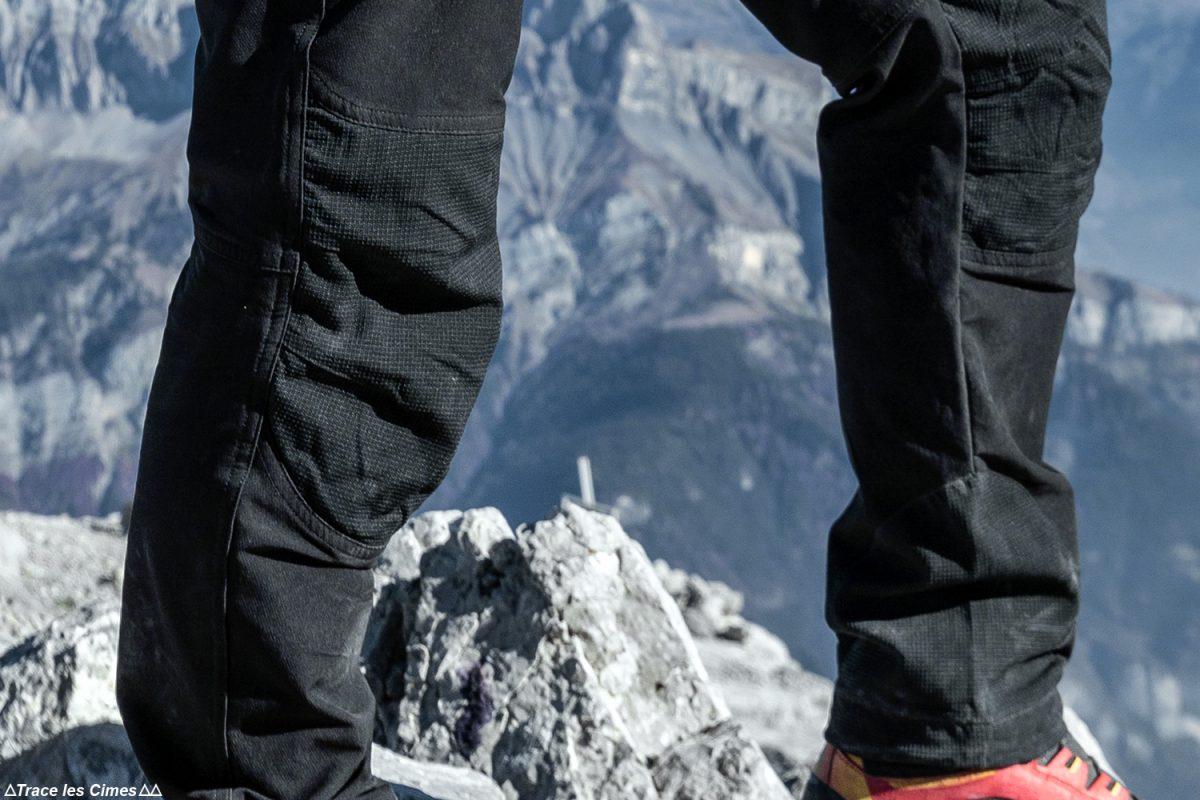 Test pantalon de randonnée CimAlp Explore H : renforts kevlar aux genoux et protège-carre cheville / trekking trouser review
